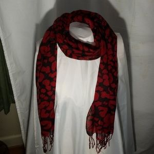 14x65 inch scarf with fringe